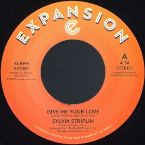 Sylvia Striplin - Give Me Your Love / Can't Turn Me Away